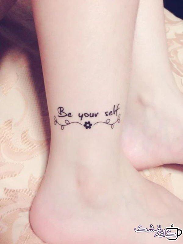 تاتو روی مچ پای دخترانه