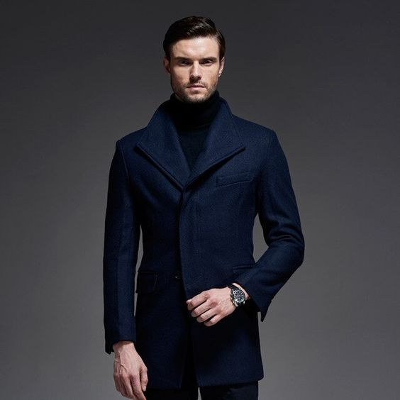 پالتو مردانه 2020 ، مدل پالتو جدید مردانه بلند جدید خزدار کلاسیک