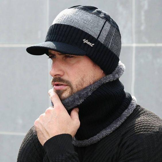 ست کلاه و شال گردن مردانه