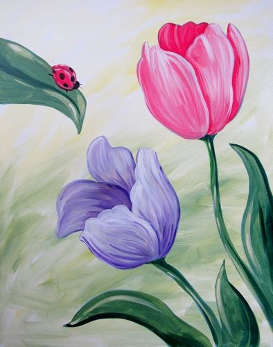 نقاشی گل ، محمدی لاله یاس