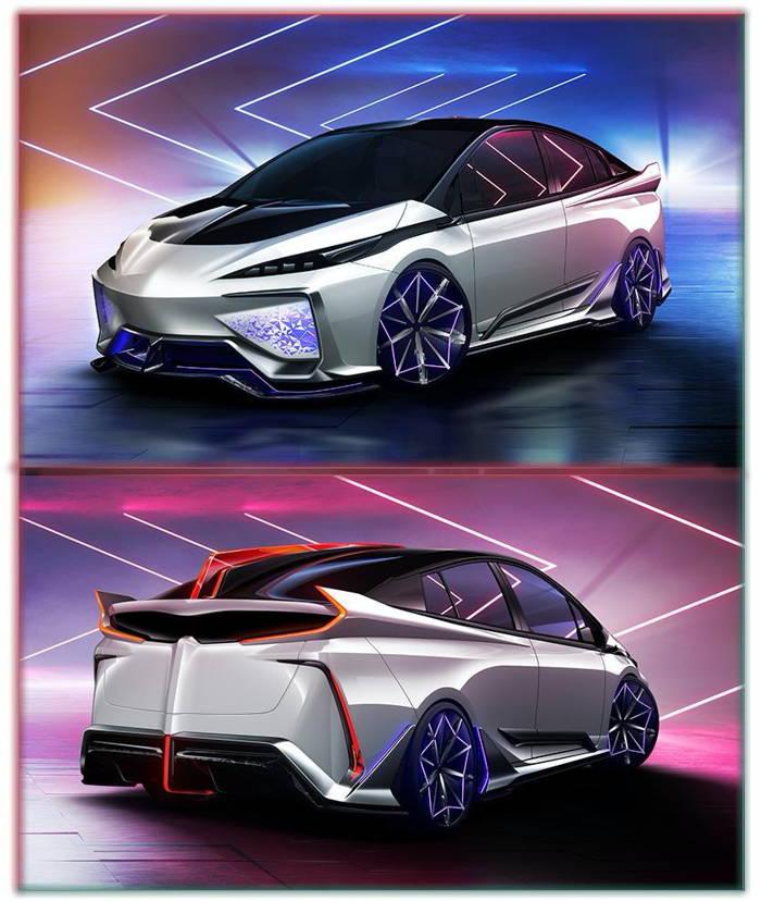 خودرو Ambivalent RD تویوتا پریوس | طراحی به سبک ژاپنی