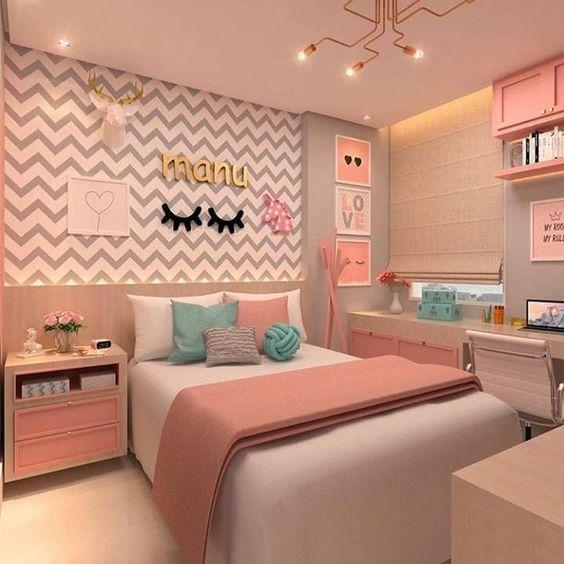 چیدمان اتاق خواب دخترانه 99 - 2020