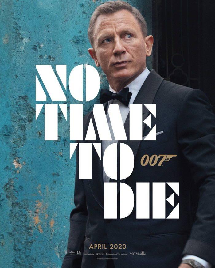 دنیل کریگ Daniel Craig بر روی پوستر فیلم No Time To Die 2020