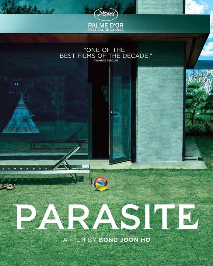پوستر برنده اسکار بهترین فیلم 2020 Parasite بدون حضور شخصیت های فیلم