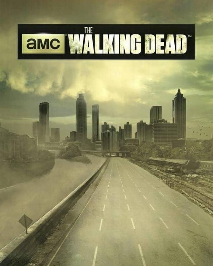 پوستر سریال جذاب و دوست داشتنی Walking Dead بدون حضور انسان و بسیار خلوت