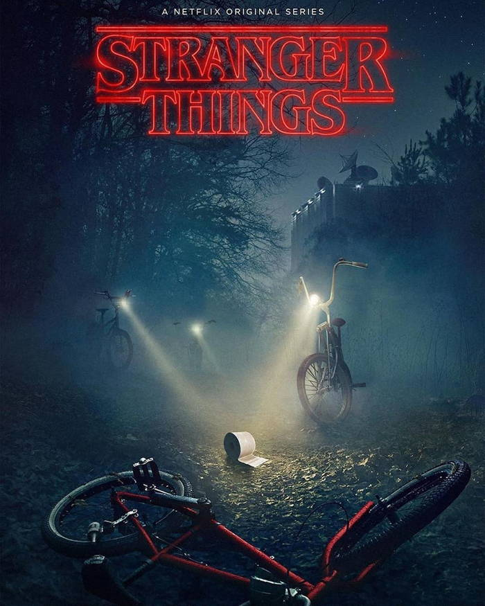 پوستر سریال Stranger Things بدون حضور شخصیت ها