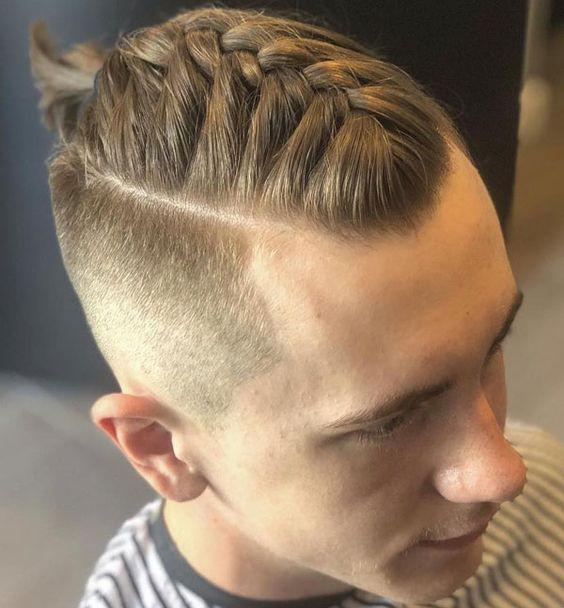 مدل مو بافته شده پسرانه