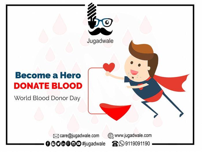 طرح گرافیکی برای پروفایل اهدای خون